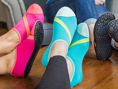 These versatile shoes, discovered by The Grommet, can be your house, run, walk, dance, go-to-the-gym, beach shoes. They also fold up for travel.