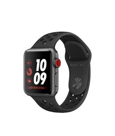 Shop Apple Watch Nike+ Space Gray Aluminum Case with dark-gray black Nike  Sport cafe89e10