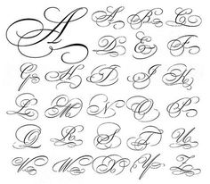 54 Ideas Tattoo Fonts Cursive Calligraphy Typography For 2019 Calligraphie Alphabet Cursif, Tattoo Fonts Alphabet, Tattoo Lettering Fonts, Hand Lettering Alphabet, Cursive Letters, Cursive Fonts Alphabet, Font Tattoo, Letter Fonts, Monogram Alphabet
