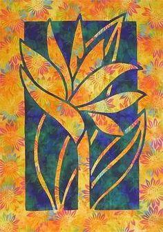 Bird of Paradise Hawaiian Style Quilt Pattern Pac Rim Nancy Chong Quilting