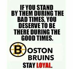 True Bruins fans are loyal to the end! Let's go Bruins!!