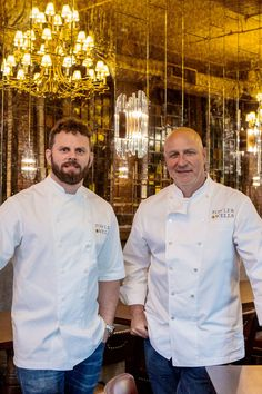 Bryan Hunt, the executive chef, left, with Tom Colicchio.(Photo: Francesco Sapienza for The New York Times) Amanda Cohen, Marco Pierre White, Restaurant New York, Executive Chef, Ny Times, Chefs, Nyc, Wellness, Wine