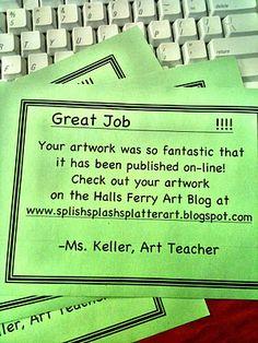 Great Job cards