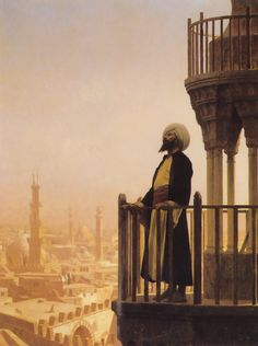 "Jean-Leon Gerome (Jean Leon Gerome) (1824-1904)  The Muezzin  Oil on canvas  1866  64.5 x 81 cm  (25.39"" x 31.89"")  Francis T.B. Martin collection (Omaha, Nebraska, United States)"