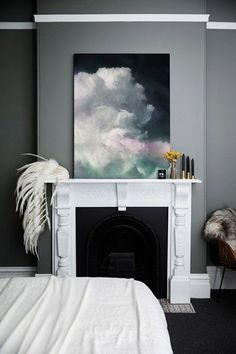 The Shaynna Blaze x Urban Road Art Collection is here (+ win a signed artwork of your choice!) - The Interiors Addict Dark Walls, White Walls, Gray Bedroom Walls, Cozy Bedroom, Rococo Furniture, Dark Color Palette, Urban Road, Bright Decor, True Homes
