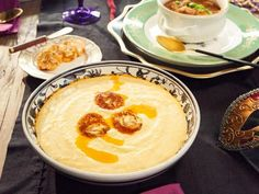 Get Cheesy Grits Recipe from Cooking Channel... search recipe for blackened butter