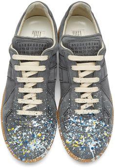 Maison Margiela Navy Suede Painter Replica Sneakers