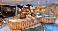 Designed and fabricated for the monumental renovation of the Children's Museum in Cairo, Egypt, the Nile River exhibit features the most intricately sculpted water table in Boss Display history.