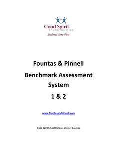 fountas-and-pinnell-bas-handout-for-inservice by Andrea Hnatiuk via Slideshare