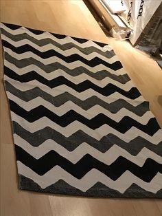 Chevron painted carpet