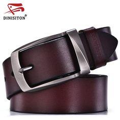 4b402e7446eb 56% СКИДКА DINISITON дизайнерские свободные ремни для мужчин высокое  качестве пояс из натуральной кожи модной ремень мужские ремни воловьей кожи  для джинсов ...