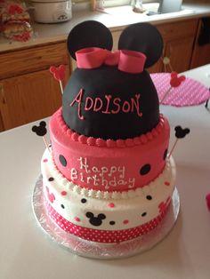Addison's Minnie Mouse birthday cake