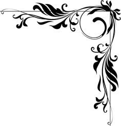 Corner Border Designs | sizes available , please check dropdown options above the buy it now ... Frame Border Design, Boarder Designs, Page Borders Design, Stencil Patterns, Stencil Designs, Drawing Borders, Motif Baroque, Drawing Hand, Motifs Art Nouveau