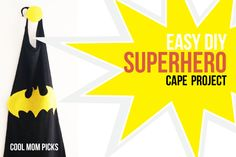 World's easiest DIY superhero cape craft from an old adult t-shirt.