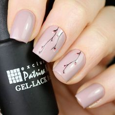 Wedding Nails with Branches and Plants picture 2