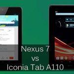 Comparacion del Nexus 7 y la Acer Iconia Tab A110, lo bueno y lo malo