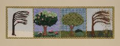 BB Needlepoint Designs BB 40 The Four Seasons, Stitch guide available