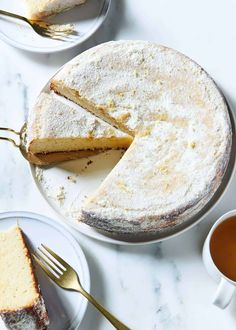 This damp lemon almond cake is vegan and gluten-free, and so easy! Just blend the wet ingredients, fold in the dry, and bake. It is DIVINE. Gluten Free Cakes, Gluten Free Desserts, Vegan Gluten Free, Vegan Sweets, Vegan Snacks, Raw Desserts, Dessert Recipes, Flourless Cake, Dairy Free Ice Cream