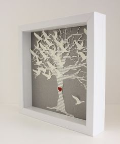 Lyric Wedding Gift Frame, Love Birds tree Picture frame - Unique Personalized wedding gift. lyrics vows date initials bride groom)
