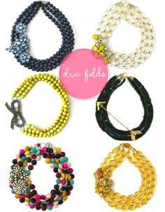 Elva Fields. handmade necklaces