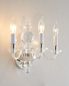 """VISUAL COMFORT """"George II"""" Three-Arm Sconce - traditional - Wall Sconces - Horchow"""