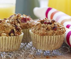 Make a batch of Apple-Cranberry Millet Muffins on the weekend, then pair one with a piece of fruit for a healthy grab-and-go #breakfast. #myplate