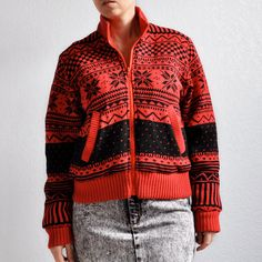 1980s vintage fair isle sweater jacket by atticism on Etsy, $27.00
