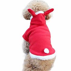 Morecome Fashion Cute Rabbit Plush Dog Apparel Pet Hoodie Costume Clothes L Red -- To view further for this item, visit the image link.