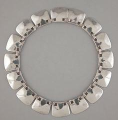 A Mexican Silver Necklace. Hector Aguilar, Taxco, Mexico, circa 1940