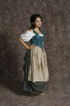 Peasant Wench #1 from Hale Center Foundation for the Arts and Education - Archive Costumes Inventory. Historically accurate for the Renaissance period.