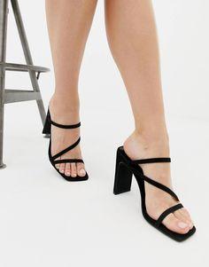 746dd7d5b56f New Look square toe sandal in black