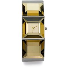 Storm Coco Faceted Stainless Steel Watch/Gold ($79) ❤ liked on Polyvore