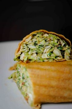 4. Thai Inspired Wrap. Instead of calling for greasy take-out next time lunch rolls around, make yourself a Thai wrap. You'll get the same yummy flavors without all the fat and calories. Toss leftover chicken with a bit of peanut sauce then combine it in a tortilla with sliced cucumbers, shredded carrots and torn cilantro. This is one my favorites!