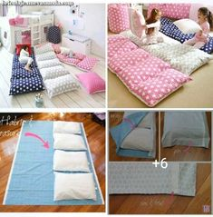 Cocooning – Sewing – # sewing – # sewing - Decoration For Home Baby Sewing Projects, Diy Projects, Portable Bed, Baby Pillows, Pillow Beds, Pillow Cases, Kids And Parenting, Girls Bedroom, Diy For Kids