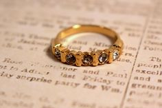Gold Tone Avon Anniversary Ring - Vintage 1989 by FrogTears on Etsy