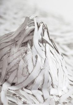 Monochromatic Hand-Torn Paper Art - Interview with Bianca Severijns Texture Painting, Paper Texture, Uses Of Paper, Crushed Paper, White Acrylic Paint, Torn Paper, Paper Artist, Paper Cutting, Paper Flowers