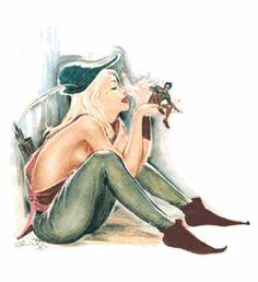 Kort - Christels Pin-up girl September Pin Up Girls, Old Cards, Retro Art, Pin Up Art, The Little Mermaid, Paper Dolls, Illustration Art, Inspiration, Drawings