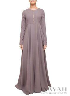 Zipper Soft Ash Abaya   INAYAH www.inayahcollection.com #inayah#hijabfashion#modestfashion#abaya