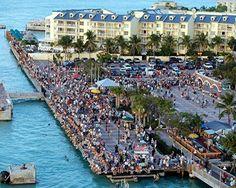 Mallory Square, Key West bij het Ocean Key Resort hotel. Love it!
