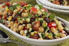Hosting a party or attending a potluck? Break out the pita chips and set out a bowl of this Summer Party Salad. This diabetic-friendly salad is full of color, taste, and nutrition 'cause it's loaded with a variety of delicious summer veggies!