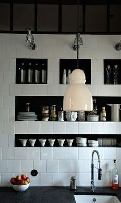 White tile backsplash WinterWhiteSale #TileSensations