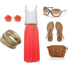 Very cute 2013 summer outfit for a day at the beach