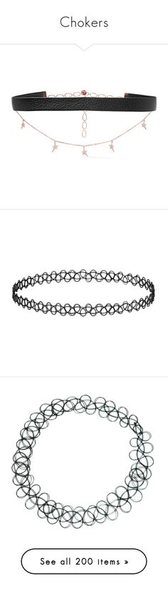 """""""Chokers"""" by amasugakookie ❤ liked on Polyvore featuring jewelry, necklaces, choker, accessories, star necklace, druzy necklaces, diamond choker, leather chain necklace, choker necklaces and chokers"""