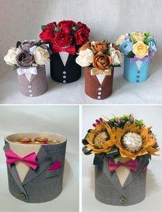 Идея мужского букета своими руками из цветов, орешков и пива