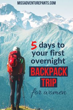 This FREE Backpacking for Women email course will take you from day hiking to overnight backpacking. Packed with tips on gear, motivation, safety, and hygiene especially for women. Click the link and fill out the form to get started! #hiking #backpacking #outdoorwomen #missadventurepants via @MissADVPants