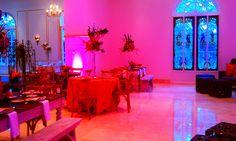 Austin Texas Event, Room Wash, Uplighting,Chandeliers,Interactive Lighting, Pink, Red, Purple, Blue, Intelligent Lighting Design, ILD Lighting,