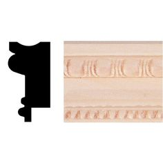 basswood chair railwainscot cappicture frame moulding