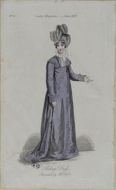 Riding dress, 1817 Lady's magazine