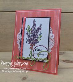 Simply Lavender | Stampin\' Up! | Amazing You | Lots of Lavender #literallymyjoy #lavender #amazingness #youareamazing #Myths&MagicGlimmerPaper #PetalGardenDSP #2018OccasionsCatalog #2018SaleABrationCatalog #20172018AnnualCatalog