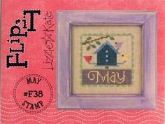 Flip-it Stamp May Cross Stitch Pattern (F38) Embroidery Patterns by Lizzie Kate